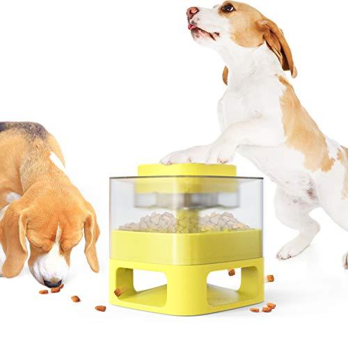 Dispensador de alimentos para mascotas - Dispensador de alimentos para perros automático Dispensador de alimentos para mascotas Juguetes, alimentador de primavera de mascotas Puzzle de juguete, Dispen