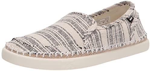 Billabong Women's Del Sol Slide Sneaker, White/Black, 9