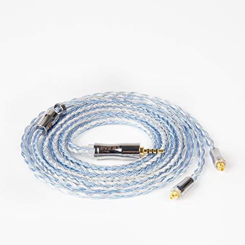 KBX4919 mmcx ケーブル 2.5mm 4極ストレート 銀メッキケーブル 24芯 shure ケーブル mmcx 2.5mm 4極 ケーブル 2.5mmリケーブル mmcx 2.5mm バランス接続 ケーブル 2.5mm バランスケーブル 4極 24芯 リケーブル mmcx (mmcx・2.5mmプラグ)