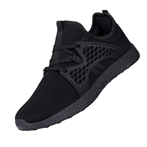 INZCOU Air Knitted Black Sneakers Slip On Gym...
