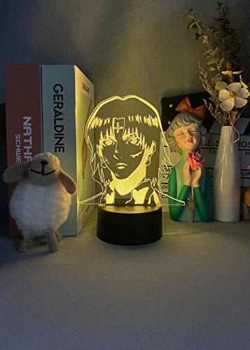 3D ilusión LED nocturna 3D luz nocturna ayuda para dormir luz japonesa dibujos animados cazador 7 colores táctil ilusión óptica decoración del hogar toca sensible lámpara regalo para niños
