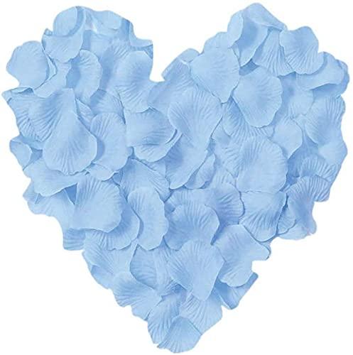 huaao 3000 pétalos de rosa románticos para decoración de bodas, San Valentín,...