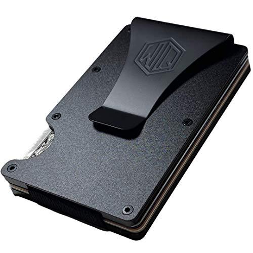 Carbon Fiber Money Clip Wallets for Men with RFID- Minimalist Slim CardHolder