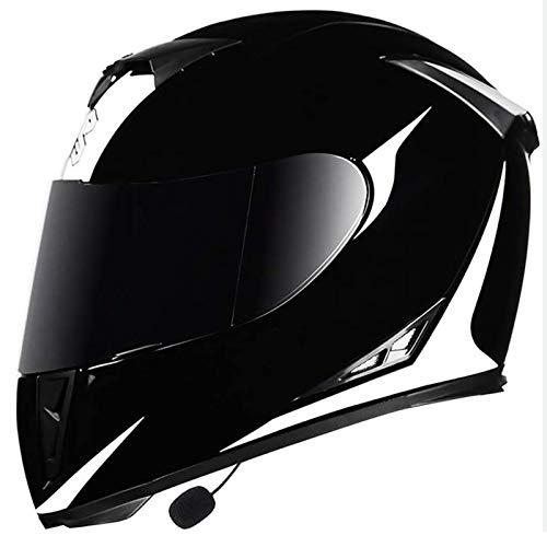 Cascos De Moto Integrados Con Bluetooth, Cara Completa Modular Antivaho De Doble Visor ECE Casco De Seguridad Extraíble Con Forro Lavable Para Hombres Y Mujereshat 3, L=(59~60CM)