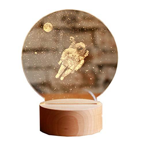 Veilleuses Lampes et éclairage Créé Astronaute 3D Nuit lumière Astronaute Anniversaire Saint-Valentin Cadeau de Noël Lampe de Table en résine (Size : Remote control15*20 cm)