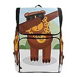 DXG1 - Mochila con diseño de oso para mujer, hombre, adolescente y niña, para viajes, universidad, casual, para regreso a casa, suministros de gran capacidad