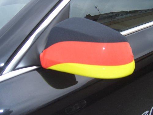 Oramics Fahne Germany Auto Aussenspiegel Flagge Deutschland WM 2010 AutoFahne Autoflagge Spiegel GEIL Germany Spiegel Socke NEU