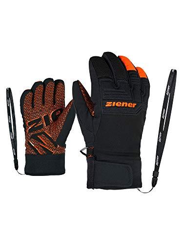Ziener LANUS AS PR Glove Junior Gants de Ski imperméables Respirants Orange Clair 3 XL Orange Vif