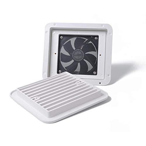 N+B 12V Frigorífico Ventilación con Ventilador para RV Trailer Caravan Side Outlet Outlet Ventilation Fan de Escape Blanco Accesorios de reemplazo