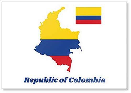 Kühlschrankmagnet, Landkarte & Flagge von Kolumbien