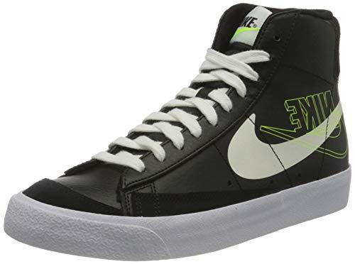 Nike Blazer Mid '77, Scarpe da Basket Uomo, Black/Sail-White-Volt, 39 EU
