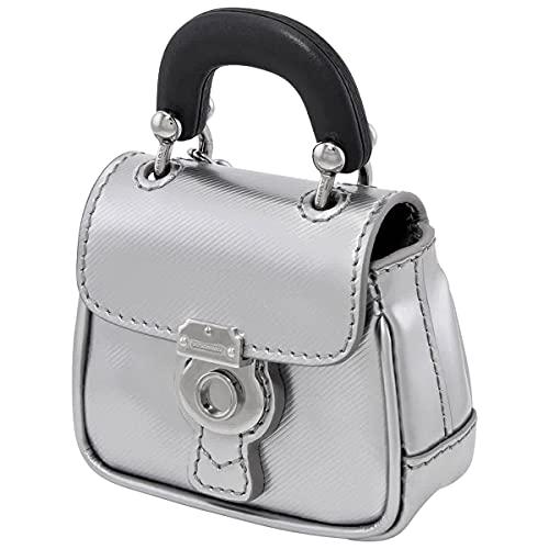 Burberry Grey Ladies Trench Leather Handbag Key/Bag Charm