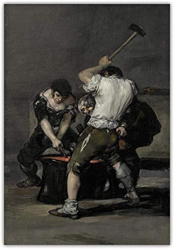 Póster de figura clásica Francisco Goya Pintura al óleo I