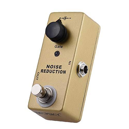 lujiaoshout MP-40 Noise Gate Noise Reduction Suppressor Mini Einzel Gitarren-Effekt-Pedal True Bypass-Goldfarben