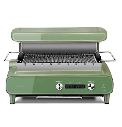 Hogar 1500W Máquina de barbacoa automática sin humo Kebab Horno eléctrico (verde)