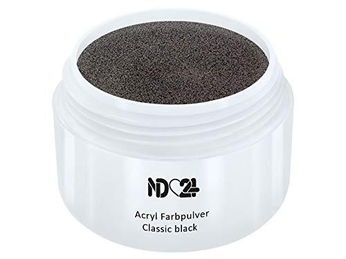 Prime Line - Acryl Pulver Classic Black Schwarz - Feinstes Farb Puder - Studio Qualität - 15g