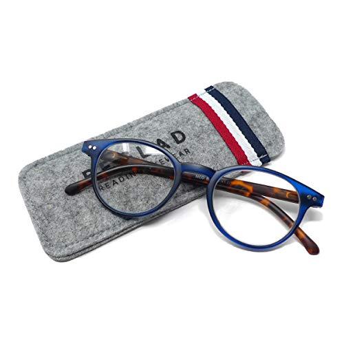 ビグラッド(BEGLAD) 老眼鏡 ブルー 度数:+1.00 【トレンドデザイン おしゃれなケース付】 BT2015BL/DBR