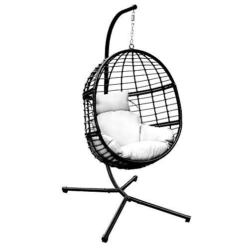 31inch Gris -diam/ètre80cm 51 Pulgadas ABMOS DLPY Papasan Bourr/é Swing Chair Coj/ín Sill/ón Espesar Tela c/ómoda 100/% Algod/ón Pato Se Adapta a la Silla Redonda-Gris Di/ámetro 130 cm