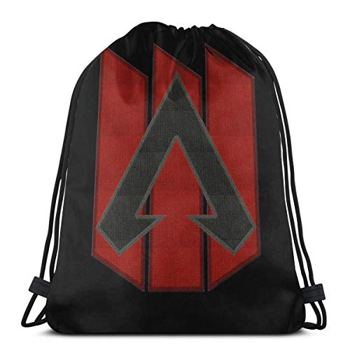 No aplicable Apex Legends Logo Patch Apex Legends Parche bordado estilo bolsa de deporte saco de gimnasio con cordón mochila