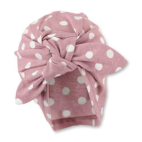 Sterntaler Knotenmütze für Mädchen mit Punktemuster, Alter: 9-12 Monate, Größe: 47, Hellrot