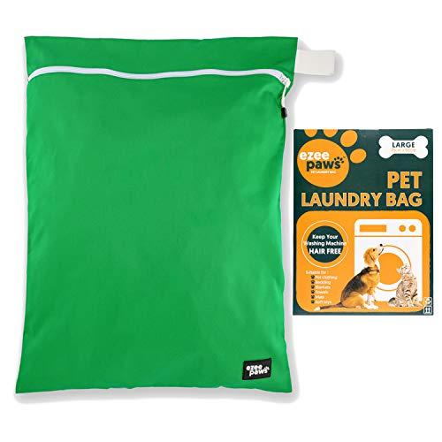 Ezee Paws, Borsa per la lavanderia, Per la lavatrice, Con cerniera e gancio per appenderla, Poliestere, Green, Jumbo