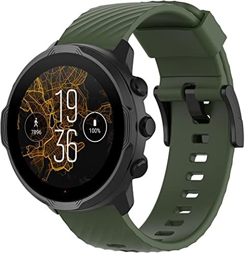 Gransho compatível com Suunto 9/9 Baro / 7 / Spartan Sport Wrist HR Pulseira de Relógio, Pulseira de Reposição Impermeável de Silicone Macio (Pattern 1)
