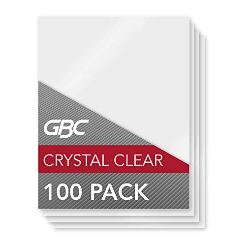 GBC HeatSeal Lamination Pouches, Crystal Clear, 100/Pack (3200403),White, 1 Pack