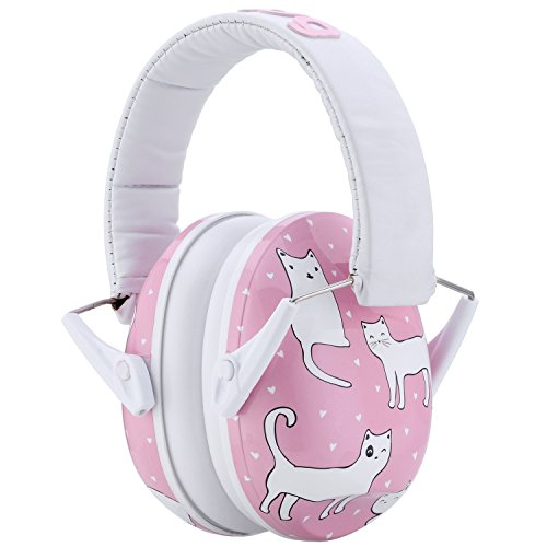 Snug Kids Ear Protection - Noise Cancelling Sound Proof Earmuffs/Headphones for Toddlers, Children & Adults (Cats)