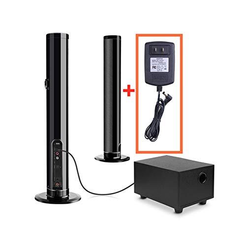 ZEIYUQI Barra de Sonido con Subwoofer,Altavoz Bluetooth Inalámbrico Desmontable de Alta Fidelidad,Estéreo Envolvente 3D para Sistema de Cine en Casa de TV,45 W 80 cm 31,5',US
