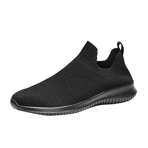 Ansenesna Schuhe Ohne Schnürsenkel Herren Sport Atmungsaktive Elegant Laufschuhe Männer Teenager Weich Sohle Sneaker