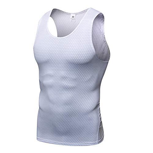 Camiseta De Compresión Sin Mangas para Hombre Baselayer Secado Rápido Tirantes Tops