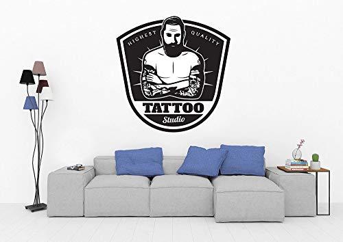 Etiqueta engomada de la pared del vinilo del logotipo del tatuaje Tattoo Studio Shop Letrero Ventana Art Deco