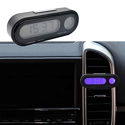 Car Auto Digital Clock MASO LED Clocks with Blacklight Adjustable Vehicle Gauge Support 12h/24h Transformation Modes