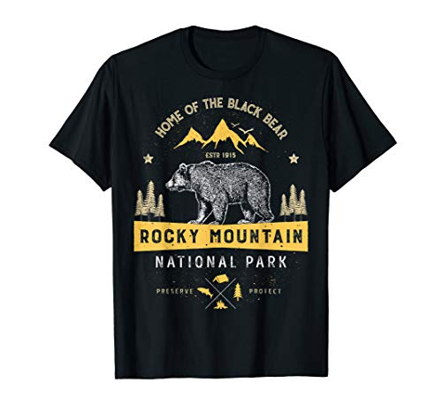 Rocky Mountain National Park Vintage Colorado Bear T Shirt