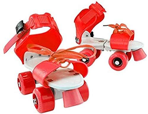 YPYGYB Kinder Rollschuhe Quad Verstellbare Skateschuhe rutschfeste Allrad-Rollschuhe Für Mädchen Und Jungen Kindergeschenk,Red-18-23cm