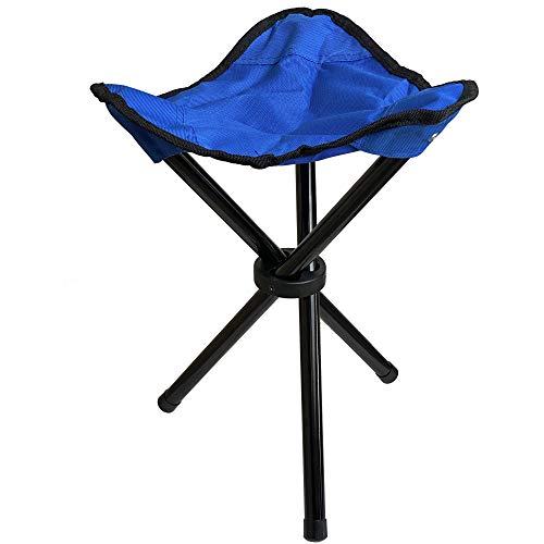 Taburete de camping portátil, muy resistente, soporta hasta 120 kg, apto como asiento de caza, también como silla de pesca.