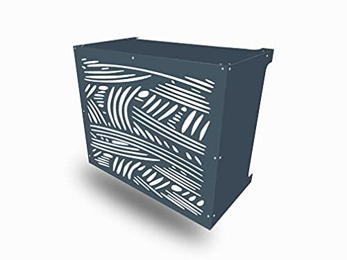 Copertura Clim Antracite resistente climatizzatore a parete in alluminio composito (curvo, grande)