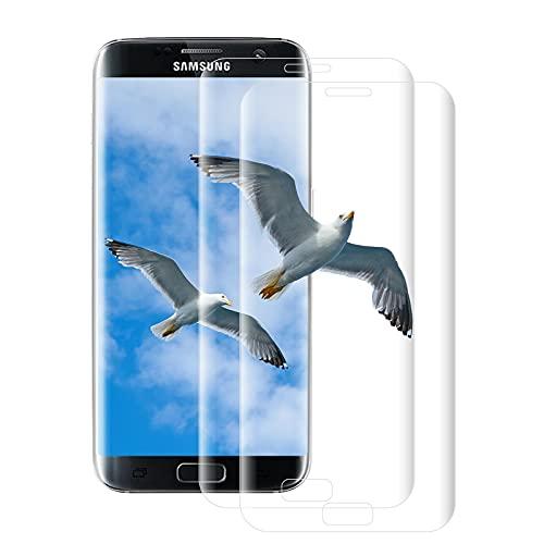 [Lot de 2] Verre Trempé pour Samsung Galaxy S7 Edge, Film de Protection d'Ecran En Verre Trempé, HD, Dureté 9H, Anti-Rayures/Bulles pour Samsung S7 Edge – Transparent