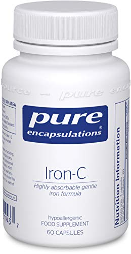 Pure Encapsulations - Iron-C - Hypoallergenic Dietary Supplement with Enhanced Iron Absorption - 60 Capsules