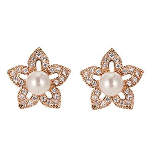 Accesorios de bricolaje pendientes de perlas moda europea y americana pendientes retro personalidad temperamento pendientes de alta gama