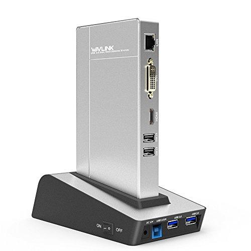 WAVLINK USB 3.0 Universal Docking Station Mutifuncional con