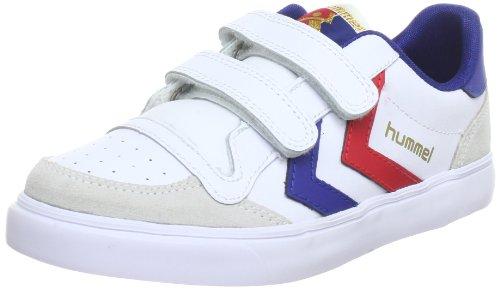 hummel Unisex-Kinder Stadil JR Leather Low-Top, Weiß (White/Blue/Red/Gum), 38 EU