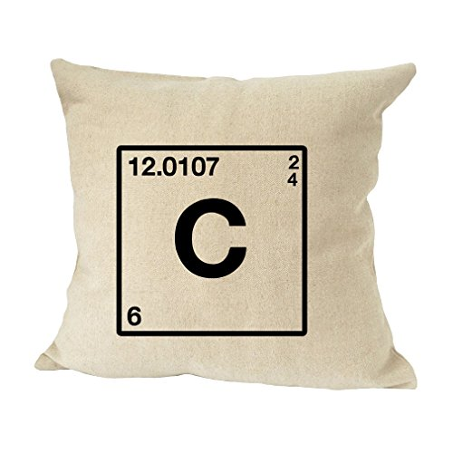 Style In Print C Periodic Table Geek Initial Monogram C Bed Home Decor Pillow Cover