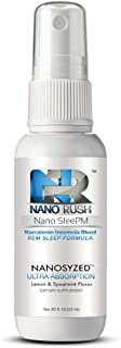 NanoRush SleePM Insomnia Oral Spray- Melatonin Sleep Blend REM Natural Remedy with Nanotechnology for Quick and Easy Absorption (Lemon & Spearmint 30 Day Supply)