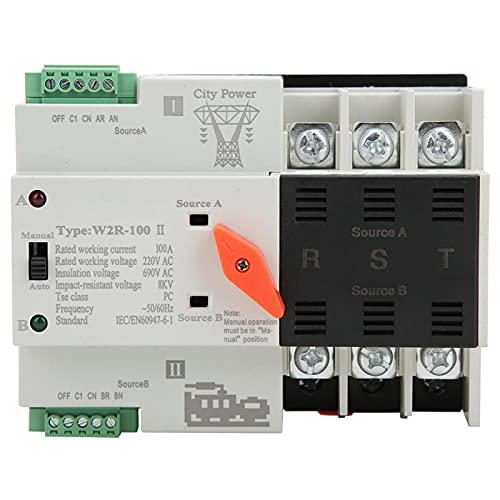 Interruptor de transferencia automático W2R-100 Interruptor de transferencia de la estructura compacta Interruptor de transferencia de energía para cajas de distribución PZ30