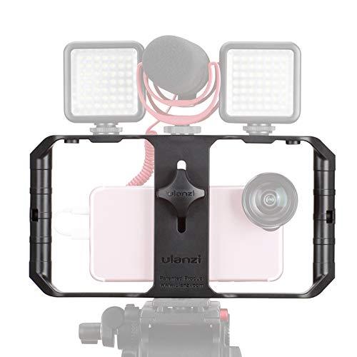 ULANZI U Rig Pro Smartphone Video Rig, Filmmaking Case, Phone Video Stabilizer Grip Stativ Halterung für Videomaker Film-Maker Video-Grapher für iPhone XS XS Max XR iPhone X 8 Plus Samsung