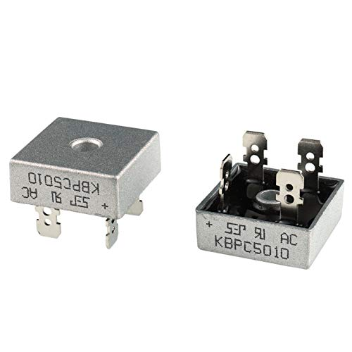 BOJACK KBPC5010 Rectifier Diode 50 A 1000 V Axial KBPC5010 50 amp 1000 Volt Electronic Silicon Diodes(Pack of 2 Pieces)