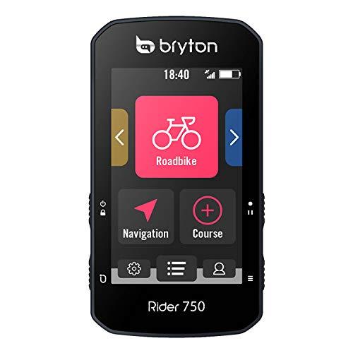 Bryton Rider 750E GPS-Fahrradcomputer, USA-Version, Farb-Touchscreen, Karten und Navigation, Smart Trainer Workout, Radar-Unterstützung, 20-Stunden-Akku, inkl. Gerät und Sport-Halterung
