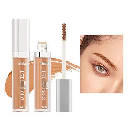 Mimore Gel de cejas de larga duración para maquillaje de cejas a prueba de agua, gel de extensión, relleno de fibra precisa, ceja, aumento de cabello, herramienta de maquillaje en crema (06)