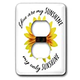3dRose lsp_319099_6 Light Switch Cover, Photo of a sunflower cutout. You are my sunshine my only sunshine